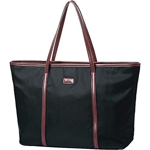 Nylon Oxford - Waterproof Nylon Oxford Multipurpose Women Tote Bag Lightweight Large Capacity Shoulder Handbag for Office/School/Travel (large, black)