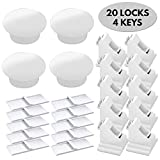 20 Locks, 4 Keys - Magnetic Safety Locks for Cupboard and Draws, including extra 3M adhesive strips - Child and Baby Proof (the biggest kit on Amazon!)
