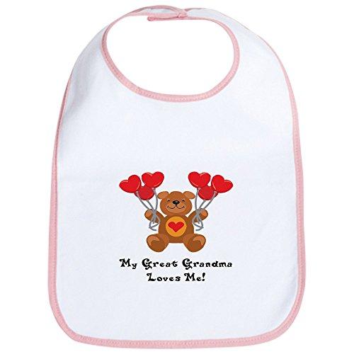 (CafePress My Great Grandma Loves Me! Bib Cute Cloth Baby Bib, Toddler Bib)