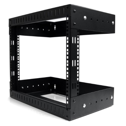 StarTech.com 8U Open Frame Wall Mount Equipment Rack - Adjustable Depth RK812WALLOA (Startech Wall Mount)