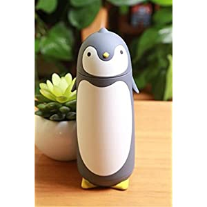 Penguin Stainless Steel Vacuum Thermos Travel Mug Tea Water Bottle Coffee Flask (Grey)