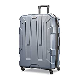 Travel Junkie 41ruzbiaVEL._SS247_ Samsonite Centric Hardside Expandable Luggage with Spinner Wheels, Blue Slate, Checked-Large 28-Inch