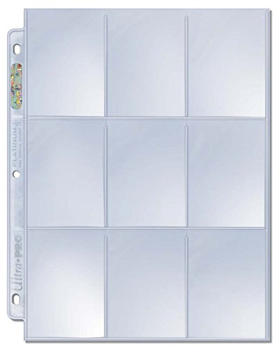 Ultra Pro 9-Pocket Trading Card Pages - Platinum Series (100 (Platinum Hobby Box)