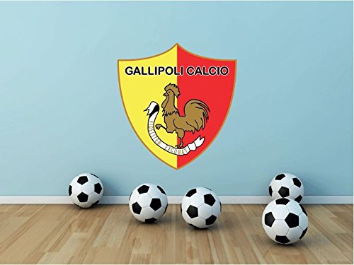 Gallipoli Calcio FC Italy Soccer Football Sport Art Wall Decor Sticker 23'' X 21'' by postteam