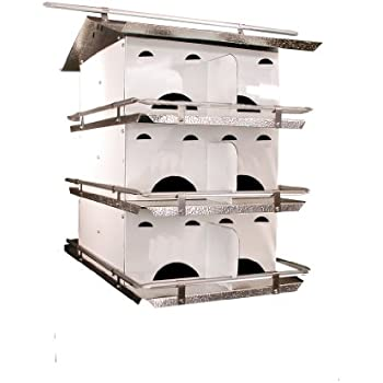Birds Choice 3-Floor-12 Room Purple Martin House with Starling Resistent Holes