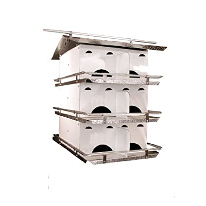 Image of Birds Choice 3-Floor-12 Room Purple Martin House with Starling Resistant Holes Home Improvements