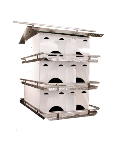 Birds Choice 3-Floor-12 Room Purple Martin House with Starling Resistent Holes 12 Room Purple Martin House