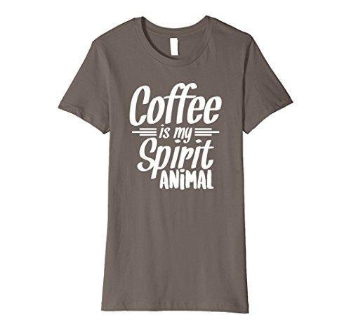 Womens Coffee is My Spirit Animal Coffee Addict T-Shirt Large Asphalt Addict Womens T-shirt
