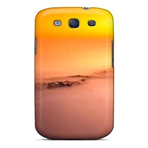 Top Quality Case Cover For Galaxy S3 Case With Nice Fiery Sunset On An Italian Beach Appearance