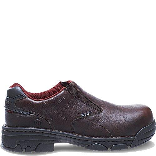 Wolverine Ayah Oblique-Toe Work Shoe Women 6.5 Brown