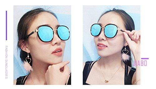 Espejo Gafas Personalidad Cara Rayos Resistente con lele Metal Color C2 los Ai Sol UV de Ms Anti polarizada a Sombra Redonda vértigo luz C3 Driver 5wq07Fx