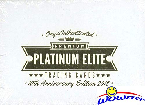 (2018 Onyx Baseball Premium Platinum Elite Factory Sealed HOBBY Box with TWO(2) HAND SIGNED AUTOGRAPHS & 2 PREMIUM HITS! Look for Autographs of Tops MLB Prospects! WOWZZER!)