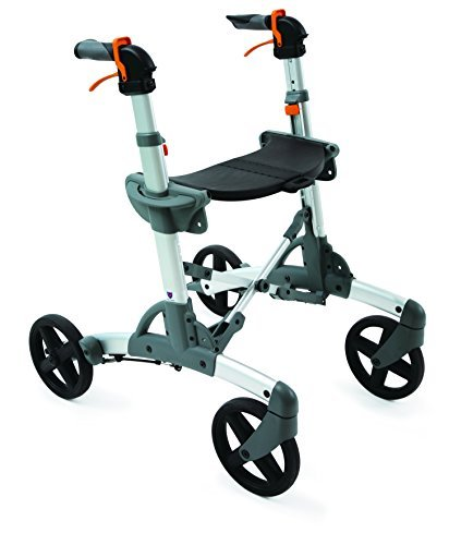 Volaris All Terrain Smart Fitness Rollator Walker With Four Wheels And Seat  Folding  Lightweight  Aluminum