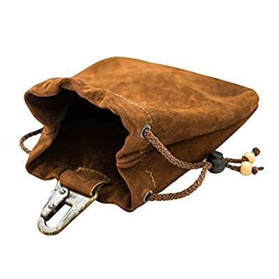 Hide & Drink Soft Leather Drawstring Pouch Handmade Swayze Suede