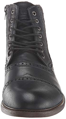 Pictures of Steve Madden Men's Trentin Ankle Boot TREN01M1 Black Leather 6