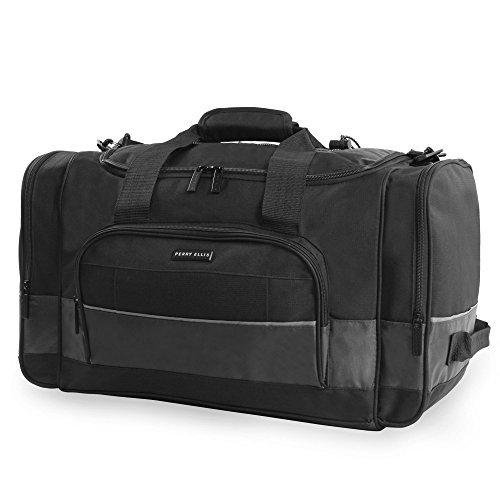 Perry Ellis Men's Business Duffel Bag, Grey, One Size
