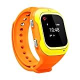 Trak Smart Watch specially designed for 3-12 year girls - India's smartest kids wearable GPS tracker smart watch & activity tracker with 2 way calling, voice messages (Orange)