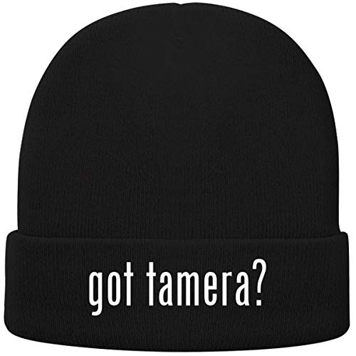 One Legging it Around got Tamera? - Soft Adult Beanie Cap, Black