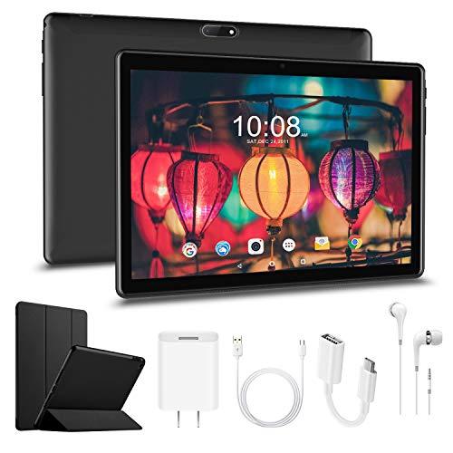 🥇 Tablet 10.1 Pulgadas 4G Android 9.0 Pie -Escalable 128GB 32GB ROM/3GB RAM 8000mAh Tableta Dual SIM y 128GB TF Certificado por Google Tablet 10.1 Pulgadas Buenas Soporte Netflix WiFi Bluetooth