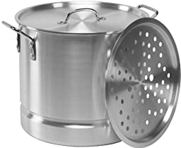 Allied Metal TSTMR12 3-Piece Aluminum Steamer, 12-Inch