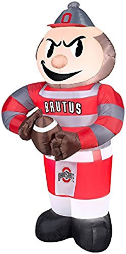 [Gemmy Airblown Inflatable Ohio State Brutus Buckeye Mascot - Indoor Outdoor Football Decoration, 7-foot Tall] (Cyclone Mascot Costumes)