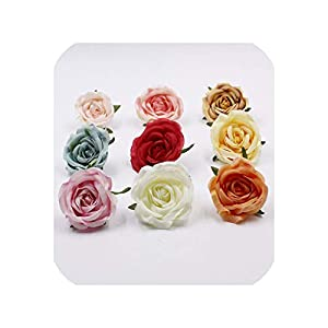 END GAME Flower DIY Mini Pink Artificial Flowers Fabric Wedding Party Decoration Wedding Flower Accessories 43