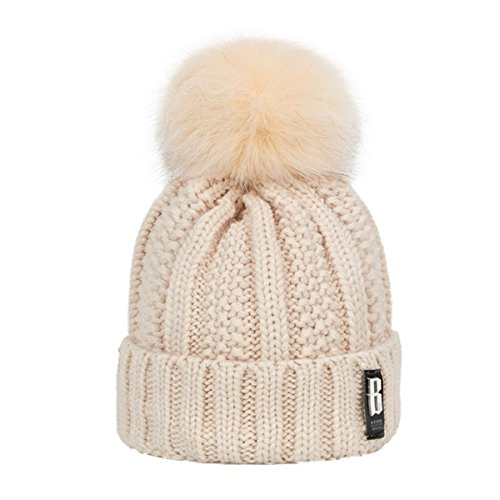 bin lang Winter Fashion Cotton Knitted Hat Charm Women Adjustable Soft Beanies caps Outdoor Sport Hats