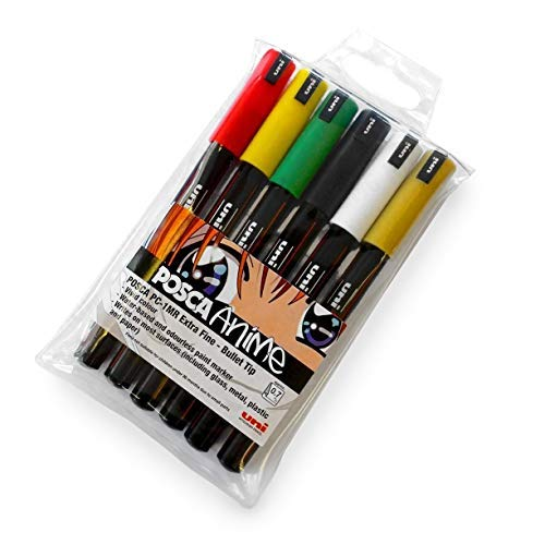 Posca PC-1MR 18 Pen Set Limited Edition Plastic Wallet Extra Black and White NEW