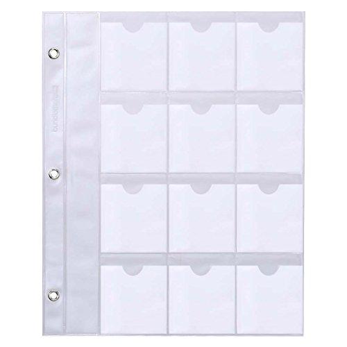 BMC Nail Plate Organizer Binder Sheets Starter Kit: 10 Square Plate Sheets - Holds 24 Per Sheet