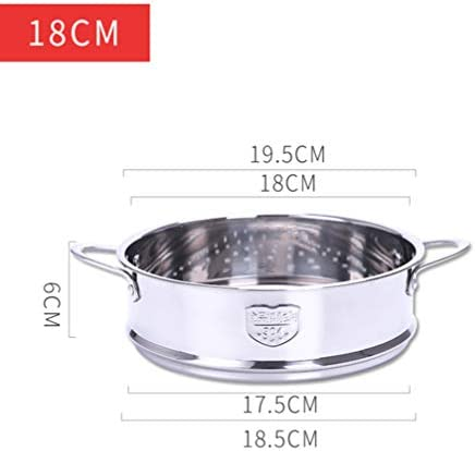 41rv1U4vvWL. AC DOITOOL Stainless Steel Steamer Pot Vegetable Food Steamer Basket Insert Kitchen Saucepot Dim Sum Dumplings Bun Steamer 18cm     Description