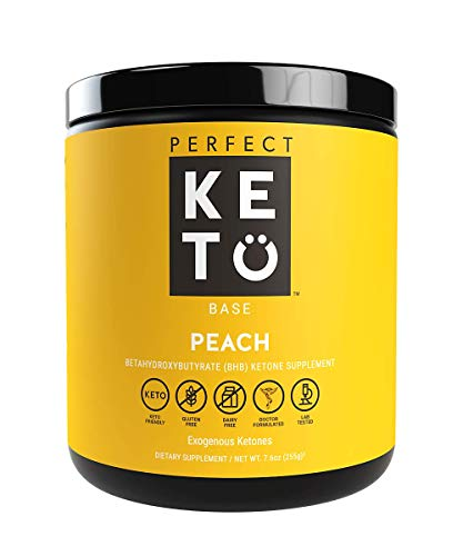 Perfect Keto Exogenous Ketones: Base BHB Salts Supplement. Ketones for Ketogenic Diet Best to Support Weight Management & Energy, Focus and Ketosis Beta-Hydroxybutyrate BHB Salt (Peach) (Eas Myoplex Nutrition Facts)