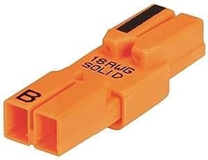 Ideal 30682 Power Plug Luminaire Disconnects, Orange Pack of 25   Amazon.com