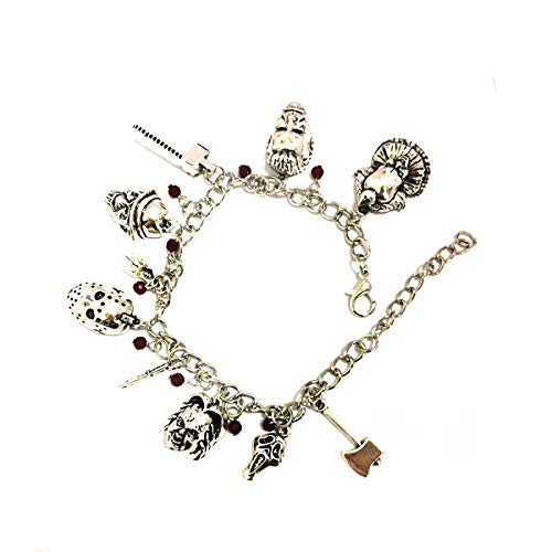 Blingsoul Chucky Charm Child Bracelet - Horror Movie Bracelets Jewelry Costume Merchandise Gift for Women]()