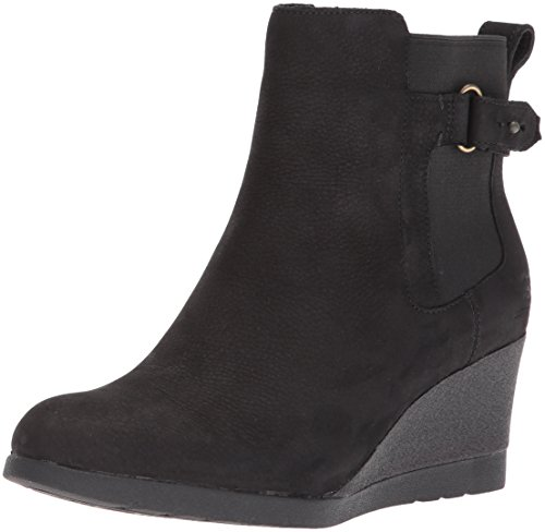UGG Women's Indra Combat Boot, Black, 10 M US