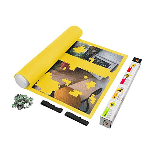 Sinoguo Yellow Felt Mat for Puzzle Storage, Puzzles Saver, No Folded Creases, Environmentally Friendly Materials, a Good Puzzle Accessories for Jigsaw Puzzle Player (M-Yellow)