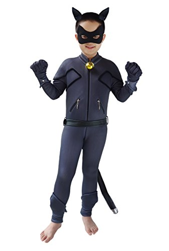 DAZCOS for Kids Boys Black Cat Cosplay Bodysuit Costume (Child Medium) -