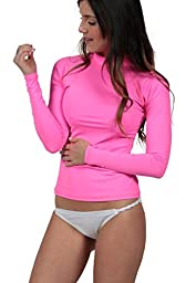 Ingear Ladies Rash Guard Made in USA (XXXlarge, Neon Pink)