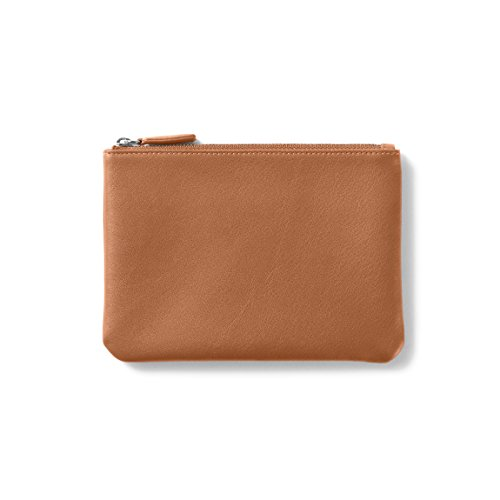 - Small Pouch - Full Grain Leather - Cognac (brown)