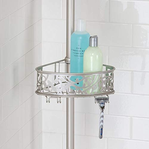 mDesign Estantería de ducha rinconera de metal – Estantería ...