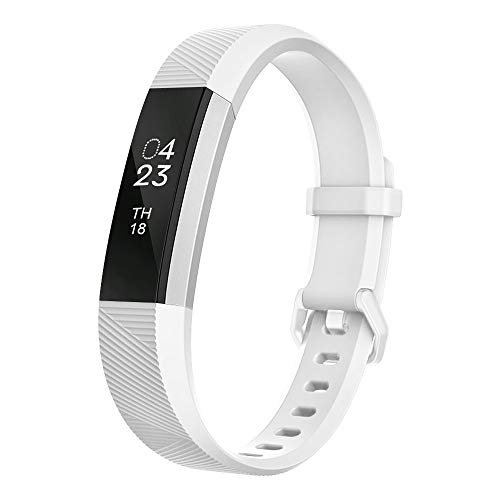 (UMTELE Compatible with Fitbit Alta Bands, Soft Wristband with Metal Buckle Clasp Closure Replacement for Fitbit Alta/Alta HR/Fitbit Ace)