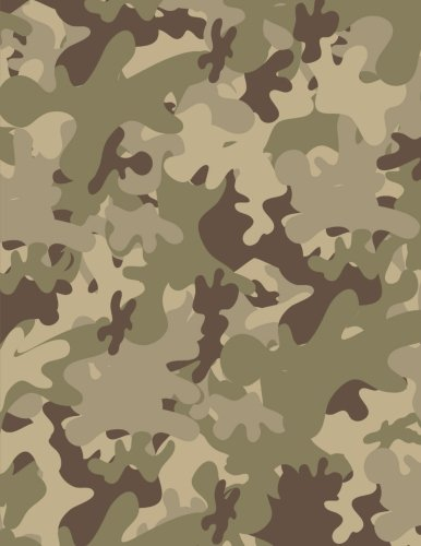 Camo Notebook: Camouflage Journal Military Ruled Book For Men Boy Great For Writing Camping Diary Note Pad (Composition Book Journal) (Large, 8.5 x 11 Inches, 121 Lined Page, Paperback) (Volume 1)