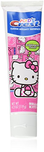 Kid's Crest Hello Kitty Bubblegum Flavor Toothpaste 4.2 oz (Pack of 3)