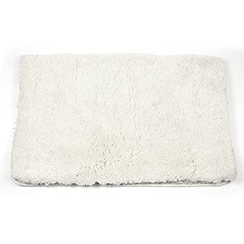 Pauwer Bath Mat High Pile Rug Water Absorbent Shag Area Rug Non Slip Bathroom Rugs (19.7x31.5