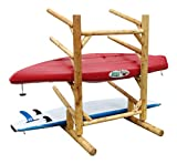 4 Place One Sided Kayak and SUP Rack Canyon Brown