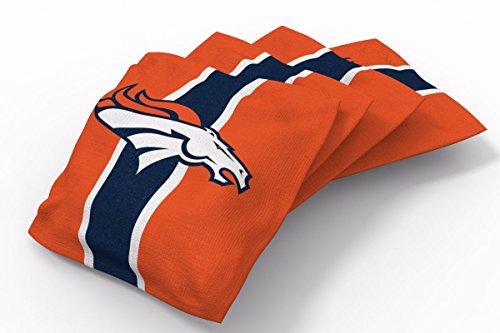 PROLINE 6x6 NFL Denver Broncos Cornhole Bean Bags - Stripe Design (B) ()