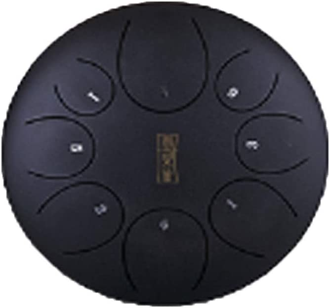 Exquisite Gifts Black, Gray, Green, Red Suitable For Adult Beginners 10-inch 11-tone Simple And Exquisite Design Style Color : Black-252516 cm Drums