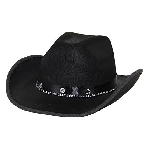 dazzling toys Kids Black Cowboy Hat One Size