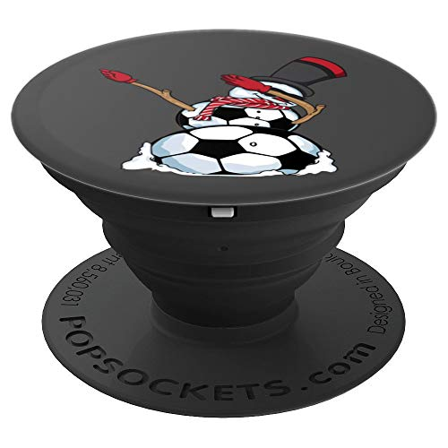 Christmas Dabbing Snowman Soccer Art - Football Lover Gift - PopSockets Grip and Stand for Phones and Tablets ()