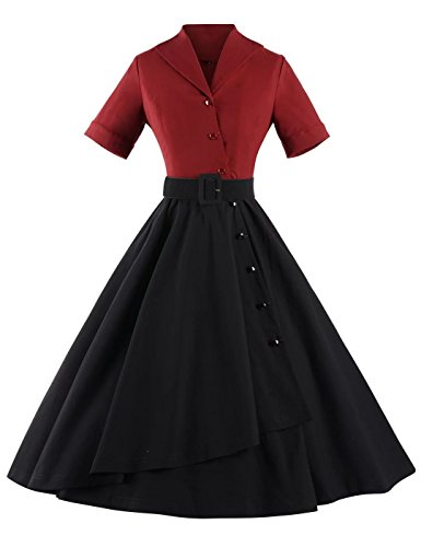 GownTown-Women-1950s-Splicing-Party-Evening-Cocktail-Dress