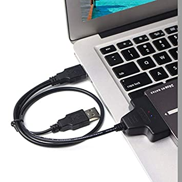 Allshopstock (#49) Doble USB 2.0 SATA Disco Duro Adaptador Cable ...